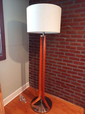 Silver and mahogany floor lamp for Sale in Tampa, FL
