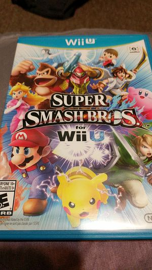 Nintendo wii U super smash Bros for Sale in Sacramento, CA