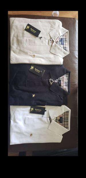 Burberry mens long sleeve polo shirt for Sale in Coral Springs, FL