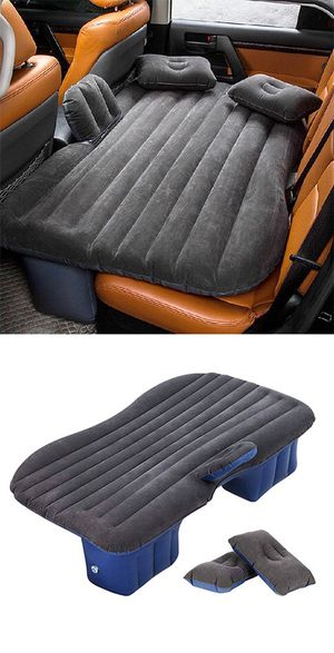 "$25 NEW Inflatable Mattress Car Air Bed Backseat Cushion Travel Camping w/ Pillow Pump 54x33"" for Sale in Whittier, CA"