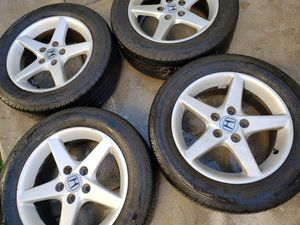 Civic rims and tires. 5x114.3. 205/55/16 for Sale in Riverside, CA