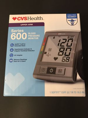 CVS Health Series 600 Upper Arm Blood Pressure Monitor for Sale in Santa Ana, CA