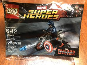 Lego Superheroes Avengers Marvel Captain America's Motorcycle 30447 for Sale in Los Angeles, CA