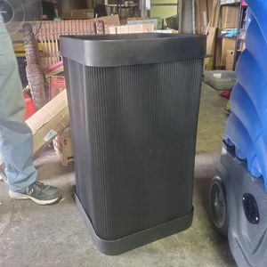 Safco Top-Open 38 Gallon Waste Receptacle, Polyethylene,Black (SAF9790BL) for Sale in Columbus, OH
