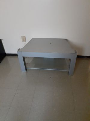 TV stand with glass shelves for Sale in Bloomington, IL