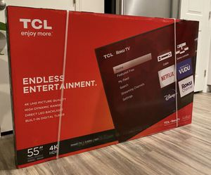 "55"" TCL roku smart 4K led uhd hdr tv for Sale in Pomona, CA"