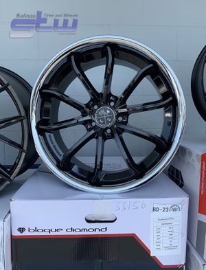 "20"" STAGGERED WHEELS PACKAGE (4) 20"" Blaque Diamond Rims (4) Tires Package Deal ONLY $1799 ( Limited Time Offer ) for Sale in La Habra, CA"