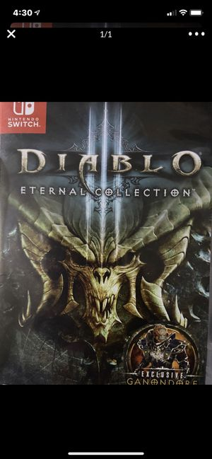 Nintendo switch Diablo 3 for Sale in Wildomar, CA