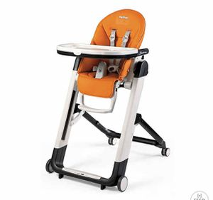 Peg Perego Siesta High Chair in Arancia Orange for Sale in Arlington Heights, IL
