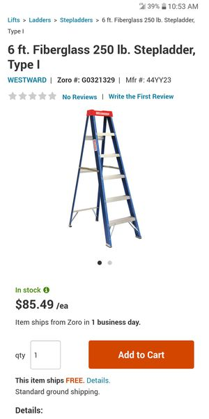 6 ft ladder. Westward. Like new for Sale in Chicago, IL