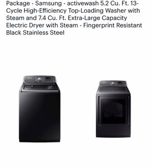 New Samsung washer 5,2 cu ft and 7,4 cu ft electric dryer for Sale in Oakland, CA