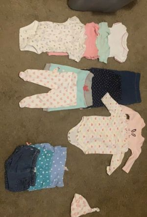 baby girl clothes 0-3 for Sale in Norfolk, VA