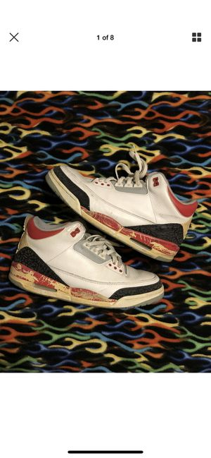 Jordan fire red 3s 10.5 used 2008 for Sale in Azusa, CA