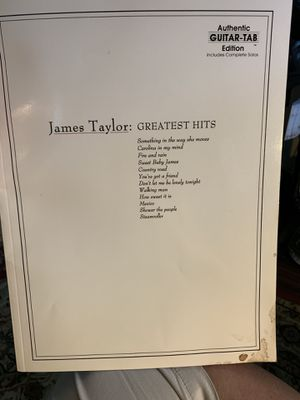 James Taylor: Greatest Hits- Complete Solos, Authentic Guitar-Tab Edition for Sale in Arlington, TX