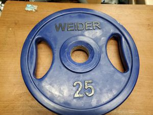 (1) 25LB RUBBER COATED Olympic Metal Grip Weight/Plate for Sale in Rockledge, FL