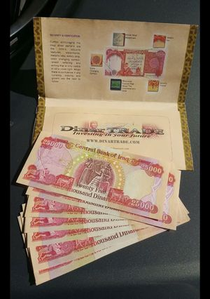 Iraq Dinar Bank Notes For In Vacaville Ca