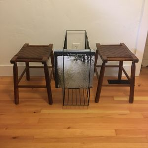 Shaker Style Stools with Herringbone Weave for Sale in Portland, OR