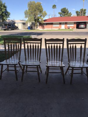 4 wood kitchen chairs for Sale in Mesa, AZ