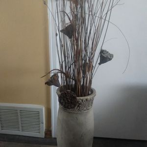 Tall Large Vase With Decorations for Sale in Colorado Springs, CO
