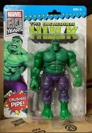 Exclusive SDCC Marvel Legends 9 Inch Hulk Collectible Action Figure Toy in Retro Packaging for Sale in Chicago, IL