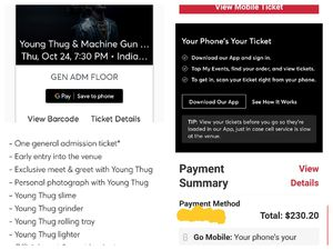 Young Thug Meet & Greet package for Sale in Indianapolis, IN