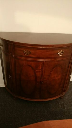 Detailed Walnut Cresent Shaped Desk for Sale in Portland, OR