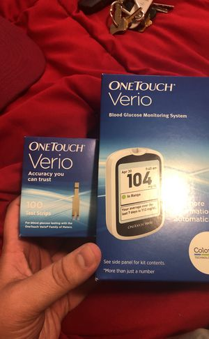 OneTiuch Verio and box of 100 test strips diabetic test for Sale in Baltimore, MD