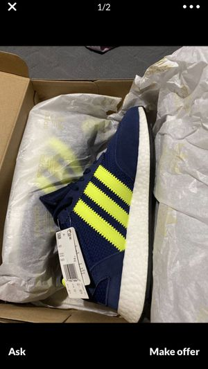 "Adidas I-5923 ""Dark Blue Solar Yellow"" - men's Sz. 10.5 and 13 yeezy boost for Sale in Westminster, CA"