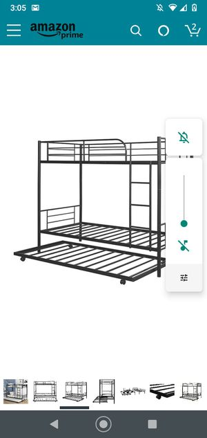 Brands new bunk beds with trundle still in box for Sale in Riverside, CA
