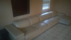 White leather couch (3 piece) for Sale in Miramar, FL
