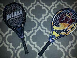 Prince tennis racket and wilson tennis racket for Sale in Atlanta, GA