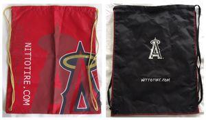 2 LA angels anaheim baseball drawstring BACKPACK nap sack TOTE BAG - red + black for Sale in Tustin, CA