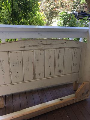 Hand made full sized bed frame for Sale in Leander, TX