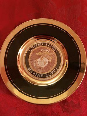 US Marines Decorative Plate: Chokin Art for Sale in Chesapeake, VA