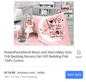 Baby girl bed set / I love you to the moon and back for Sale in Fremont, CA