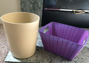 Small Trash Can and Basket for Sale in Renton, WA