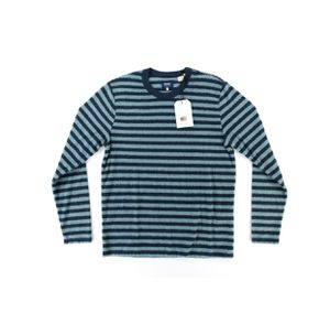 Levi's Made & Crafted Stripe Slub T-Shirt Long Sleeve Blue Striped Med for Sale in Hialeah, FL