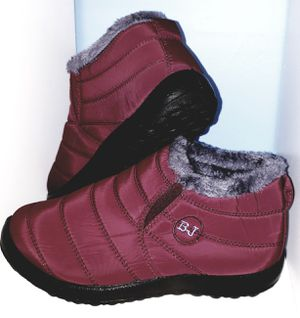 Unisex Winter Snow Boots Warm Fur Lined Ankle Shoes Waterproof W(8-8.5) / M(6.5-7) for Sale in Seminole, FL