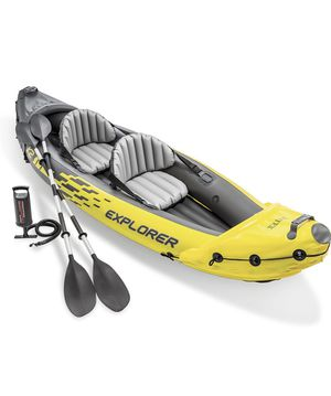 Intex Explorer K2 Kayak, 2-Person Inflatable Kayak Set with Aluminum Oars and High Output Air Pump for Sale in Canton, GA