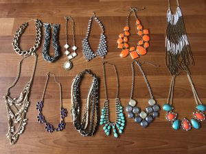 LOT OF 12- Womens necklaces for Sale in Walnut Creek, CA