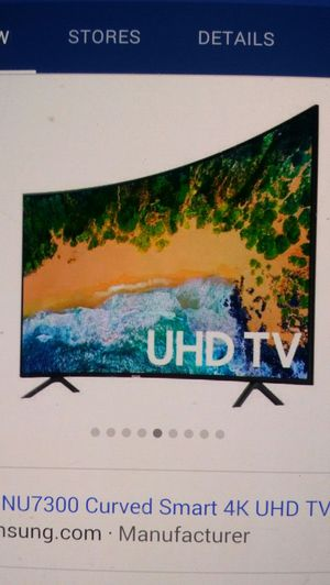 Price firm brand new 65-inch Samsung curved 4K smart 7300 model no Trading for Sale in Winston-Salem, NC