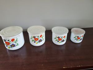 Food storage containers with flowers for Sale in Pikesville, MD
