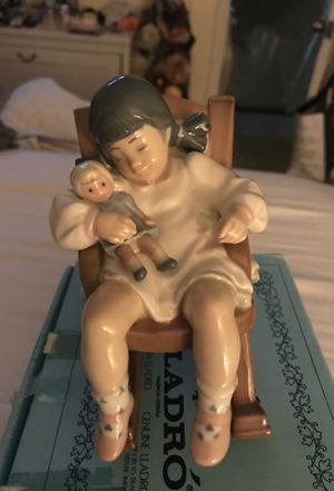 Naptime-Girl In Chair With Doll - Boxed Lladro Figurines by LLADRO for Sale in Paramount, CA