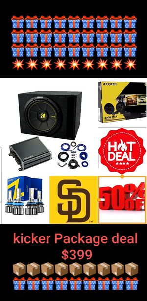 Kicker Package deal for Sale in San Diego, CA