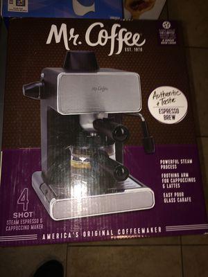 Mr Coffee 4 shot stream Express & Cappachino maker for Sale in Salt Lake City, UT
