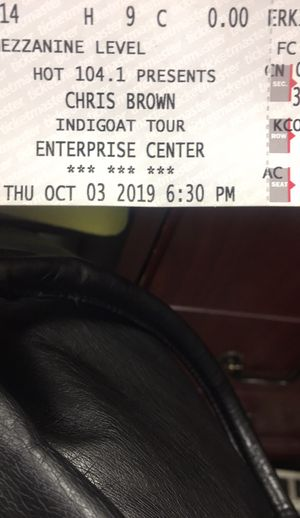 Chris Brown Indigo Tour Tickets (2) for Sale in St. Louis, MO