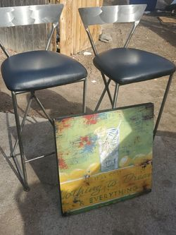 Hi Tall Chairs N Pic On Wood for Sale in Aurora,  CO