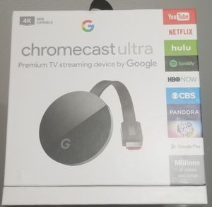 Chromecast Ultra (black) for Sale in Chicago, IL