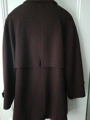 Ladies brown wool Macintosh coat large for Sale in Manasquan, NJ