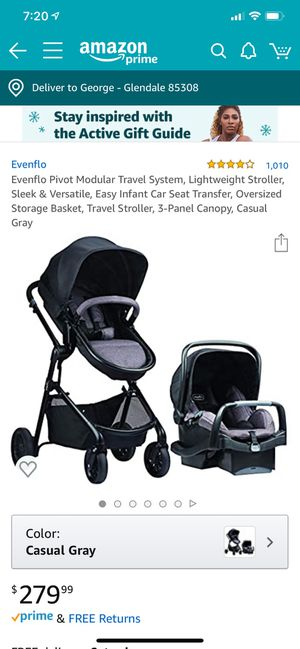 Brand new Evenflo carseat and stroller travel system for Sale in Glendale, AZ